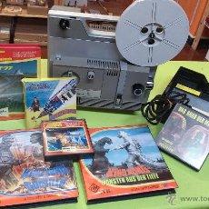 Antigüedades: PELÍCULAS DE CINE Y PROYECTOR DE CINE - BATCH OF SUPER 8 PROJECTOR AND FILMS IN GERMAN -ALEMAN. Lote 47743286