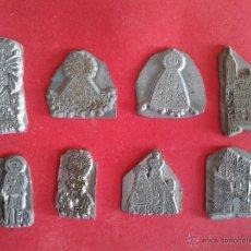 Antigüedades: LOTE DE CLICHÉS DE IMPRENTA. VIRGENES. VIRGEN. . Lote 47776058