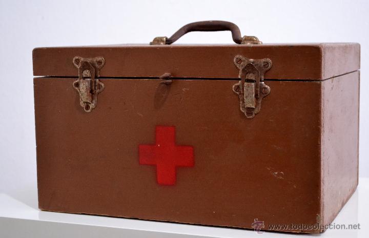 Antiguo botiqu n a os 50 de madera renfe grabad comprar herramientas profesionales medicina en - Botiquin antiguo ...