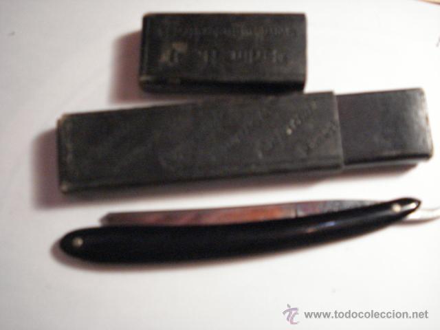 BONITA NAVAJA DE AFEITAR ALKIBE 103 - MIRA OTRAS SIMILARES EN VENTA (Antigüedades - Técnicas - Barbería - Navajas Antiguas)