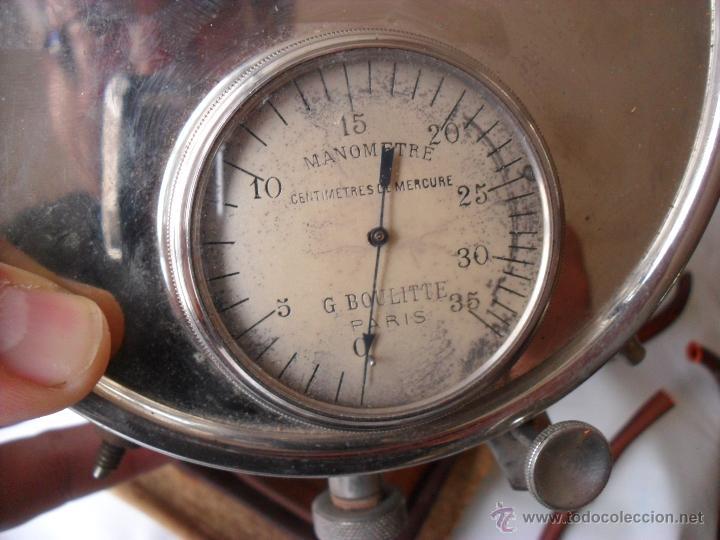 Antigüedades: tensiometro,oscilometro antiguo,principio siglo pasado,con bomba en lugar de perilla - Foto 2 - 47860342