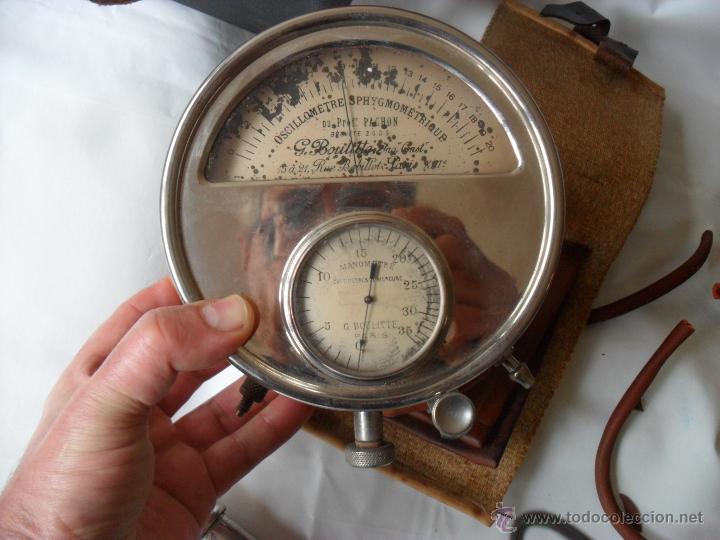 Antigüedades: tensiometro,oscilometro antiguo,principio siglo pasado,con bomba en lugar de perilla - Foto 5 - 47860342