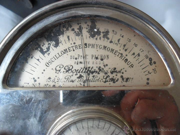 Antigüedades: tensiometro,oscilometro antiguo,principio siglo pasado,con bomba en lugar de perilla - Foto 7 - 47860342