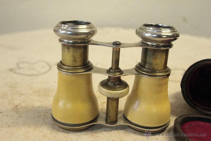 BINOCULARES ANTIGUAS DE OPERA O TEATRO, S.XIX, CON FUNDA, PRISMÁTICOS (Antigüedades - Técnicas - Instrumentos Ópticos - Binoculares Antiguos)