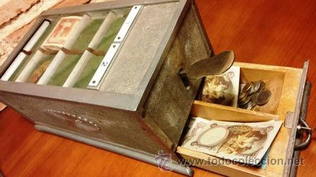 Antigüedades: MÁQUINA REGISTRADORA IDEAL - Foto 6 - 47889427