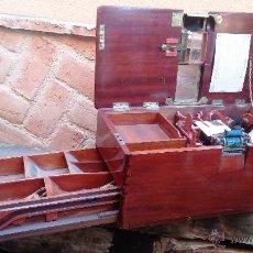 Antigüedades: REGISTRADORA DE MADERA Y BRONCE. Lote 47917186