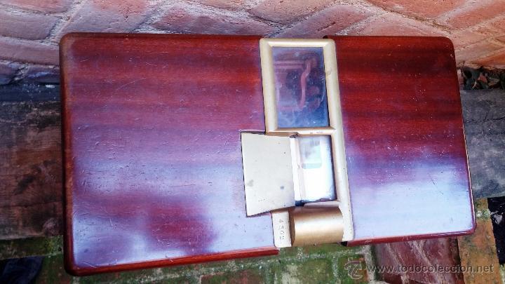 Antigüedades: Registradora de madera y bronce - Foto 12 - 47917186
