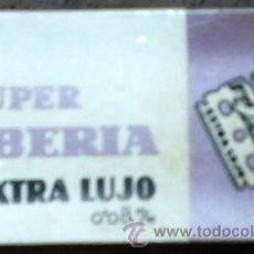 Antigüedades: ESTUCHE 10 HOJAS DE AFEITAR IBERIA EXTRA LUJO 0,08 M/M.. Lote 47950699