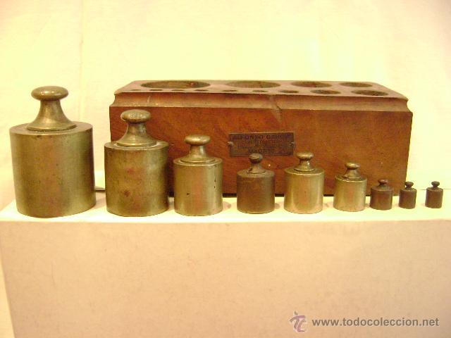 Antigüedades: CAJA CON PESAS - Foto 3 - 47992219