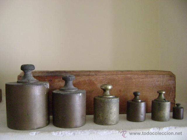 Antigüedades: CAJA CON PESAS - Foto 3 - 47992339