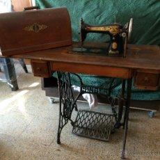 Antigüedades: MAQUINA DE COSER SINGER COMPLETA. Lote 48001238