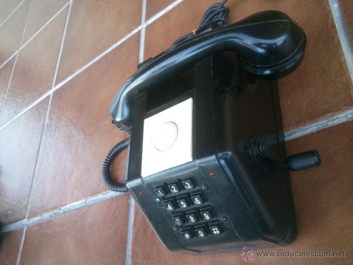 Teléfonos: Teléfono antiguo de Baquelita con Manivela. - Foto 5 - 48007915