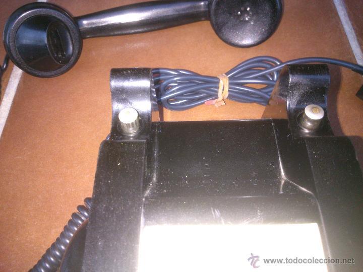 Teléfonos: Teléfono antiguo de Baquelita con Manivela. - Foto 7 - 48007915