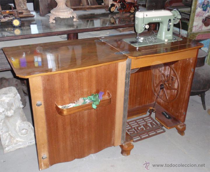 maquina de coser sigma con mueble muy buen est comprar