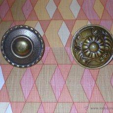 Antigüedades: LOTE DE 2 POMOS TIRADORES PARA PUERTA O MUEBLE. Lote 48166394