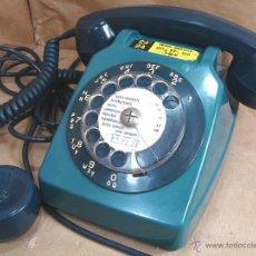 Teléfonos: ANTIGUO TELEFONO FRANCES CON AURICULAR EXTRA - RUEDA - PTT FRANCIA AÑOS 60 ¡¡¡ FUNCIONANDO ¡¡¡. Lote 48188485