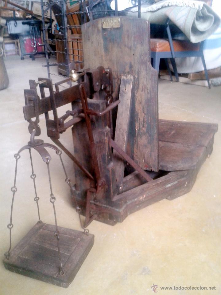 Antigüedades: ANTIGUA BASCULA DE MUSEO- RESTARADA - Foto 4 - 48216821