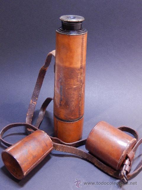 CATALEJO. POSIBLEMENTE INGLÉS (Antigüedades - Técnicas - Instrumentos Ópticos - Catalejos Antiguos)