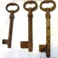 Antigüedades: 3, TRES LLAVES ANTIGUAS. Lote 48288994