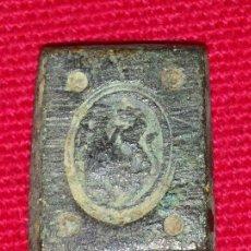 Antigüedades: PONDERAL HOMBRE MATANDO A LEÓN.. Lote 48292295