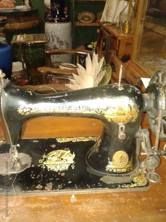 MÁQUINA DE COSER SINGER (Antigüedades - Técnicas - Máquinas de Coser Antiguas - Singer)