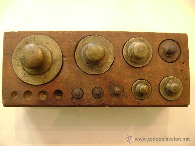 Antigüedades: CAJA CON PESAS - Foto 5 - 47992219