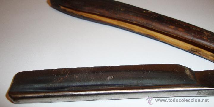 Antigüedades: ANTIGUA NAVAJA CARLRADER SOLINGEN A 14 CACHAS DE MADERA - Foto 3 - 48365724
