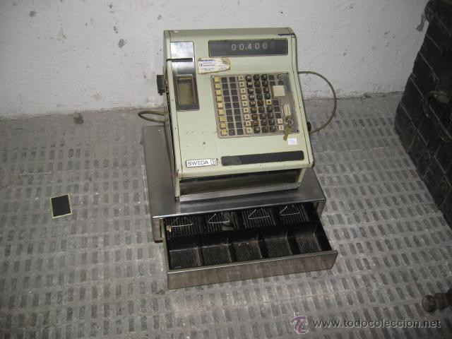 CAJA REGISTRADORA SWEDA - ELECTRICA Y MANUAL - FUNCIONANDO - (Antigüedades - Técnicas - Aparatos de Cálculo - Cajas Registradoras Antiguas)