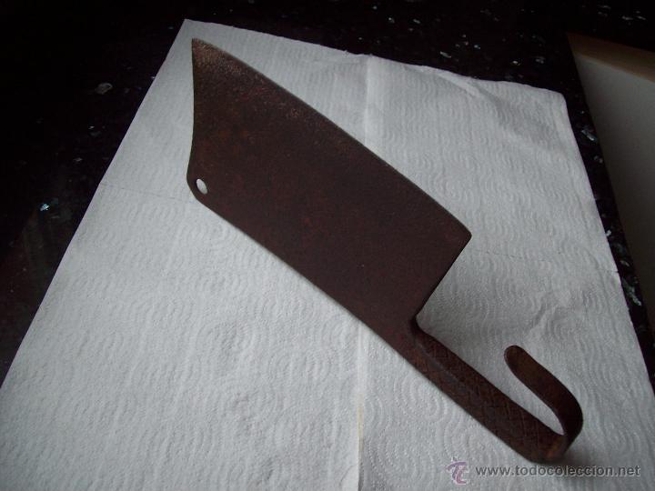 Antigüedades: Machete en forja. Fabricado manualmente de Carniceria - Foto 2 - 37314422