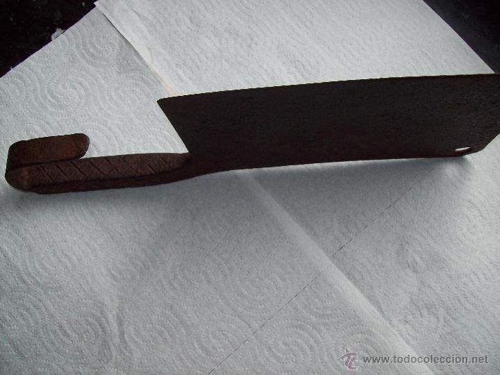 Antigüedades: Machete en forja. Fabricado manualmente de Carniceria - Foto 3 - 37314422
