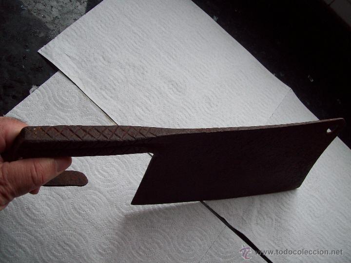 Antigüedades: Machete en forja. Fabricado manualmente de Carniceria - Foto 4 - 37314422