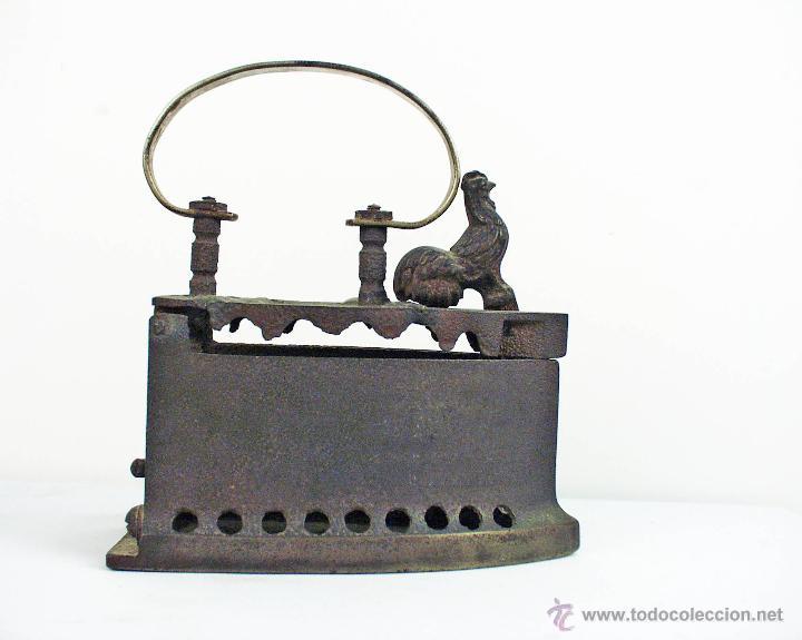 Antigüedades: PLANCHA DE HIERRO FUNDIDO DEL GALLO - Foto 5 - 48486160