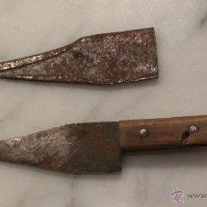Antigüedades: CUCHILLO CON FUNDA DE HIERRO , AÑOS 30 .. Lote 48534804