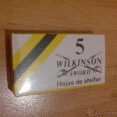 Antigüedades: 1 CAJA DE HOJAS DE AFEITAR CON 5 CUCHILLAS - NUEVA SIN ABRIR - WILKINSON SWORD (VER FOTO ADICIONAL). Lote 48576927