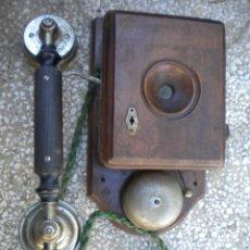 Teléfonos: TELEFONO DE MADERA ERICSSON,PONE PATENTE 29 OCT. 1895. 24X16X9. Lote 48637852