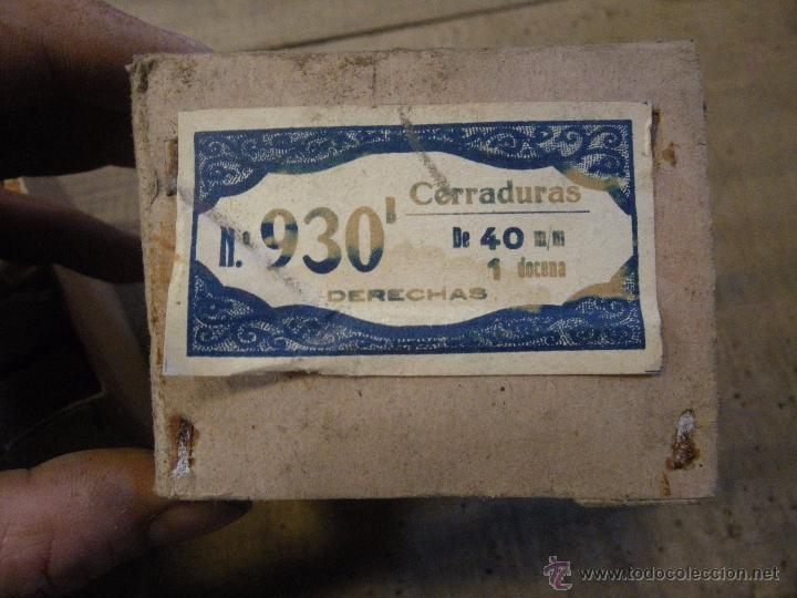 Antigüedades: LOTE DE 12 CERRADURAS PARA MUEBLES , VITRINAS CAJONES ETC. , VER FOTO - Foto 2 - 180108683