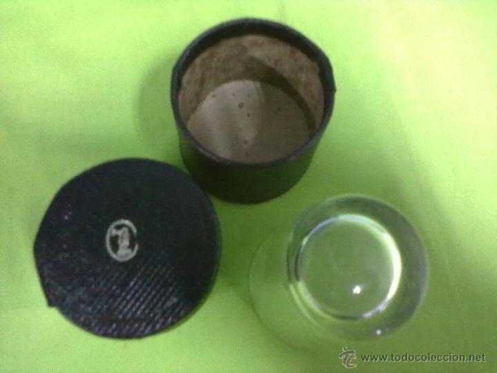 Antigüedades: MEDICINE GLASS VASO DOSIFICADOR EN SU CAJA FUNDA - Foto 3 - 48671303