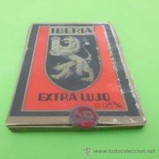Antigüedades: 100 HOJAS DE AFEITAR IBERIA EXTRA LUJO CONTENIENDO 10 PAQUETES DE 10 HOJAS CON SELLO DE IMPUESTOS. Lote 48706502