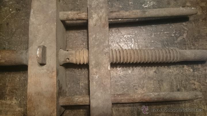 ANTIGUA PRENSA DE IMPRENTA PARA ENCUADERNACION (Antigüedades - Técnicas - Herramientas Profesionales - Imprenta)