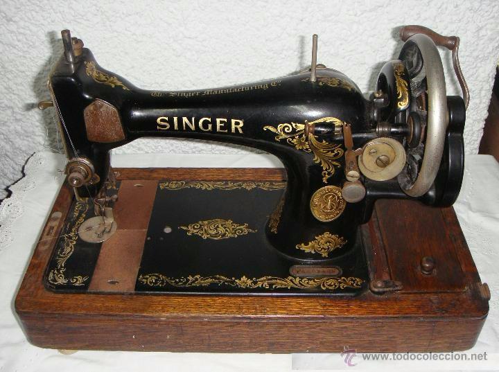 antigua maquina de coser manual. portátil. sing - Comprar