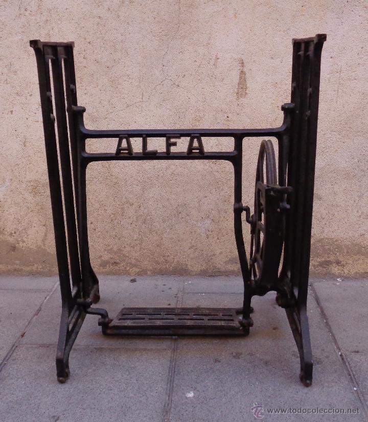 Antigüedades: PIE MAQUINA DE COSER ALFA ( 80 AÑOS) - Foto 5 - 48740213