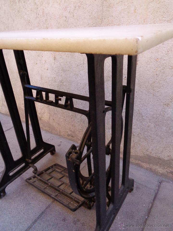 Antigüedades: PIE MAQUINA DE COSER ALFA ( 80 AÑOS) - Foto 6 - 48740213