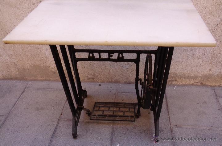 Antigüedades: PIE MAQUINA DE COSER ALFA ( 80 AÑOS) - Foto 7 - 48740213