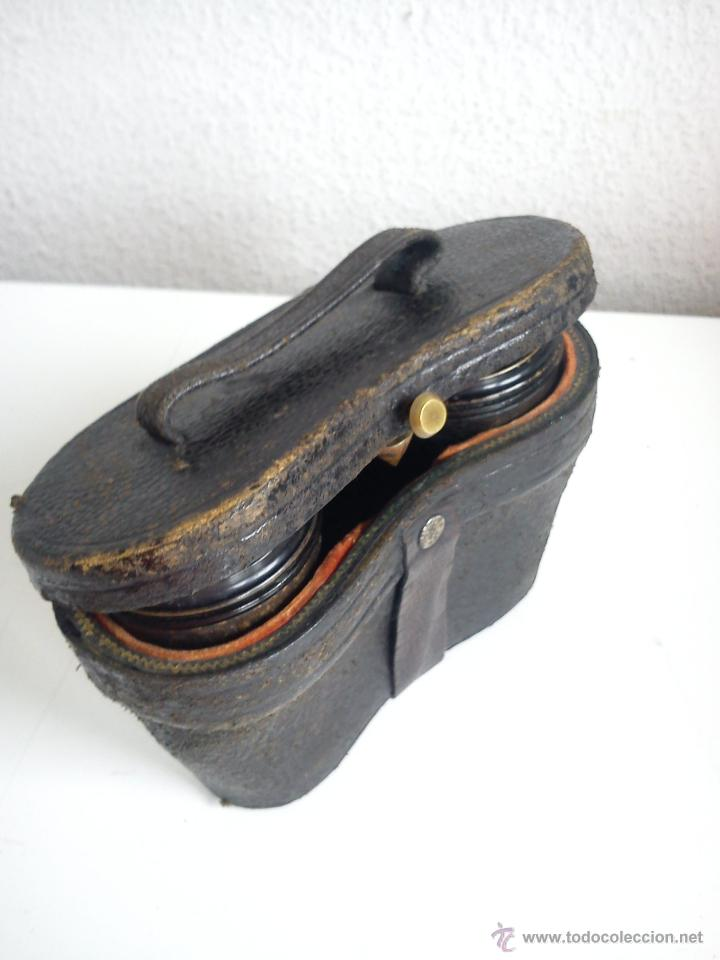 Antigüedades: ANTIGUIOS Y MAGNIFICOS BINOCULOS PARA COLECION SELADO TH,M,LUTHER,OPTICIEN NEUCHATEL ANOS 50,60 - Foto 6 - 48758156