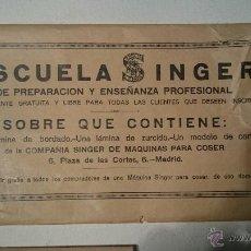Antigüedades: SOBRE COMPLETO ESCUELA SINGER. Lote 48760780
