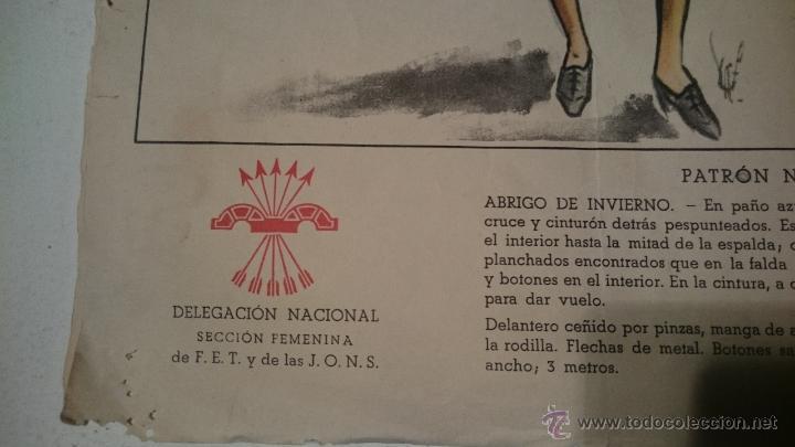 Antigüedades: PATRON DE CAPOTE DE INVIERNO SEÑORA - Foto 2 - 48760849