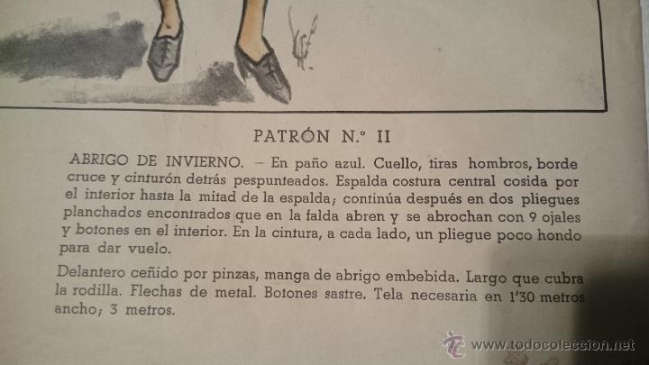 Antigüedades: PATRON DE CAPOTE DE INVIERNO SEÑORA - Foto 3 - 48760849