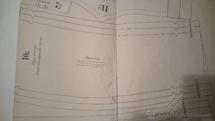 Antigüedades: PATRON DE CAPOTE DE INVIERNO SEÑORA - Foto 4 - 48760849