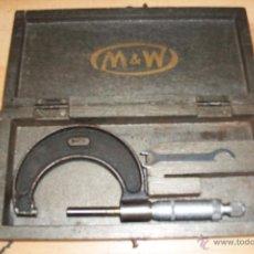 Antigüedades: ANTIGUO MICROMETRO O CALIBRE- M & W. Lote 48818158