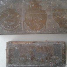 Antigüedades: ANTIGUAS PLACAS DE SERIAGRIA DE IMPRENTA VASIJAS GRECORROMANAS AÑOS 50. Lote 48839447